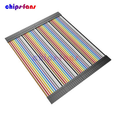 40PCS Dupont Wire Jumper Cables 10cm Female To Female 1P-1P For Arduino
