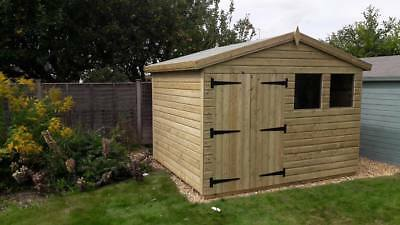 10'X8' FULLY TANALISED 13mm t&g Shiplap shed Reverse Apex