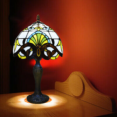 "Hand crafted TIFFANY Floor Lamp 16"" shade Antique Style Bed/Living Room Lamp"