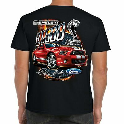 Mens Ford Mustang Carroll Shelby T Shirt Classic V8 American GT 500 Muscle Car