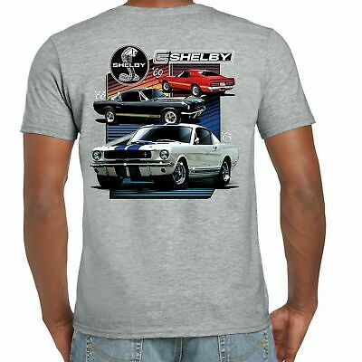 Mens Ford Mustang Carroll Shelby T Shirt American GT 500 Classic V8 Muscle Car
