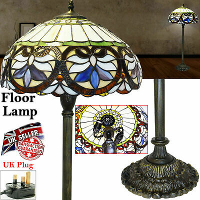 "New Antique Style Hand crafted TIFFANY Floor Lamp 16"" shade Bed/Living Room Lamp"