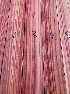 Brazilian tulipwood (rosewood) knife scale carving blank boxmaker wood 10mm