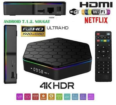 SMART TV BOX T96 PRO Android 7.1 4K ultra HD 4 GB 32G smart tv wifi telecomando