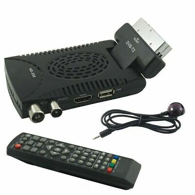 Decoder Mini Digitale Terrestre Dvb T2 Scart 180 Usb Hdmi Hd 333 + Telecomando
