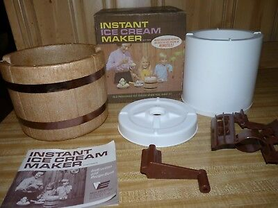 Vintage Eagle Instant Ice Cream Maker excellent, very clean, works, instructions