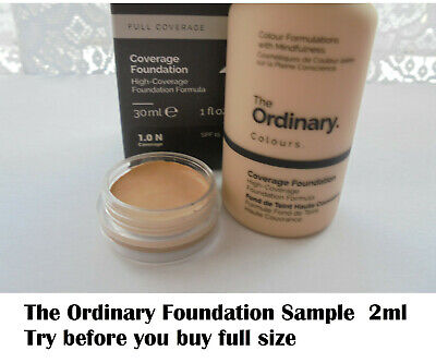 The Ordinary Colours Coverage Foundation various sample