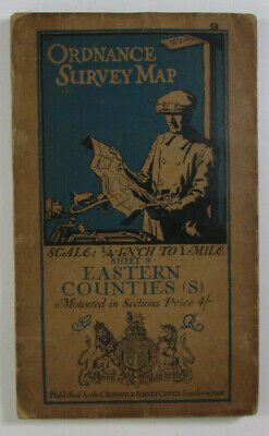 1920 Old OS Ordnance Survey Quarter-Inch Map Third Edition 9 Eastern Counties S
