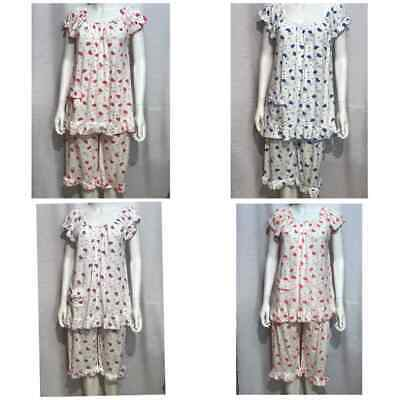 Pyjama Set Short Pyjamas PJs Summer Nightwear Size 10-22 Ladies Lounge wear