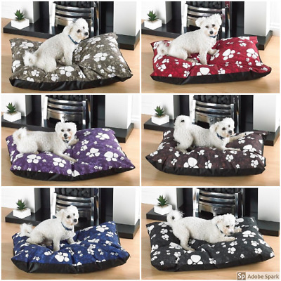 Large Dog Bed With Removable Zipped Poly Cotton Cover Pad Bed Mattress Cushion