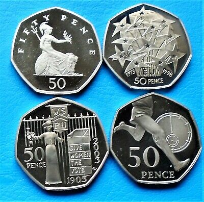 1971- 2011  Elizabeth II 50p Pence Decimal Proof Coin - Choose Your Year