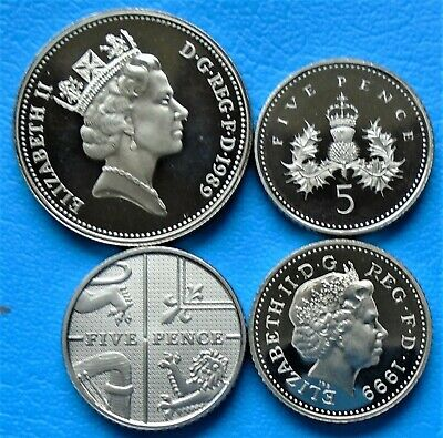 1971 -2012 Elizabeth II 5p Pence Decimal Proof Coin - Choose Your Year