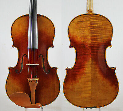 Antique Vanish!A Strad Viola 16.5 inch Copy!  #5195 Deep Warm Tone!