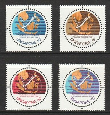 Singapore 1978 Asean Submarine Cable Network 1St Series Comp. Set 4 Stamps Mint
