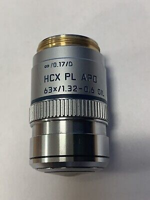 Leica HCX PL APO 63x 1.32-0.6 NA Oil Immersion Microscope Objective Lens 506081