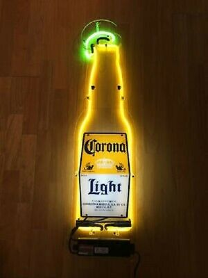 """New Corona Light Lime Left Beer Bottle Bar Cub Party Man Cave Neon Sign 17""""x10"""""""