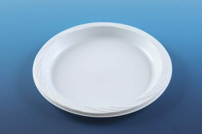 Euro Disposables White Plastic 22cm Plates KEDASSIA APPROVED IDEAL FOR PASSOVER