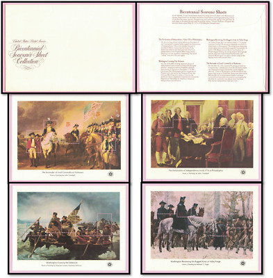 1976, American Bicentennial Issues, Souvenir Sheets, Scott# 1686-1689, MNH