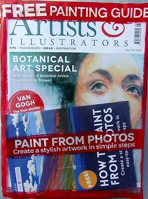 Artists & Illustrators Magazine May 2019 ~ Sealed With Free Painting Guide ~