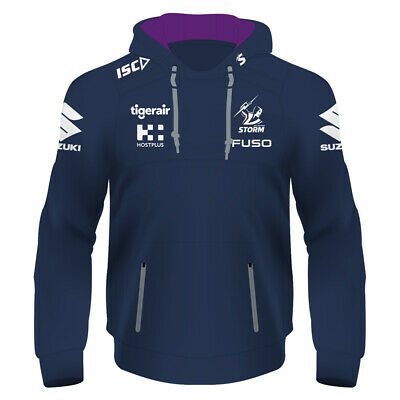 Melbourne Storm 2019 NRL Mens Squad Hoodie Top BNWT Rugby League Hoody Clothes