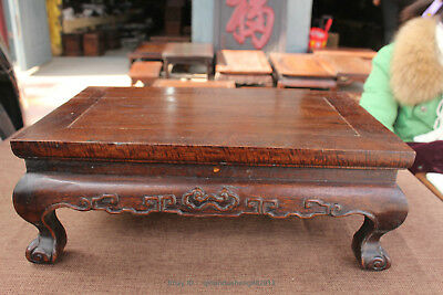 Chinese antique yellow rosewood  hand carved Ancient table desk statue sculpture