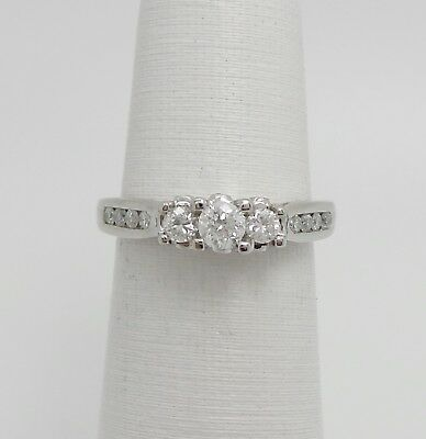 1.89 Ct D/vvs1 Round Cut 10k Yellow Gold Three Stone Engagement Wedding Ring Other Fine Rings