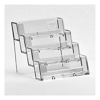 Business Card Holders Acrylic Display Stand Retail Counter Dispensers Container