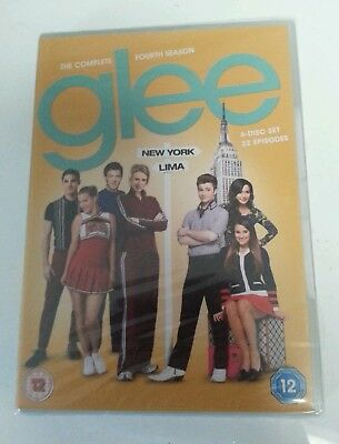 DVD BOX SET - New & Sealed Glee Complete Season 4 6 Disc DVD Cert 12 PAL TV R2