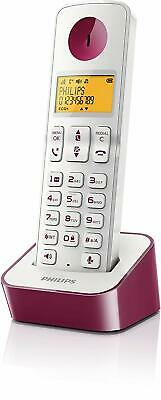 Philips Cordless Phone D210 Series White, Purple D2101WP/90