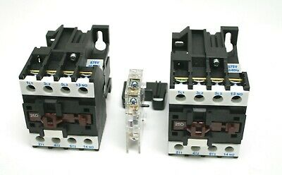 NHD Reversing Motor Contactor up to 25HP 110V coil Electrical Mechanic Interlock