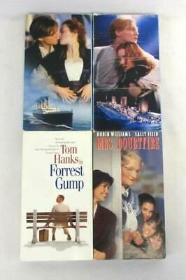 Lot Of 4 Family Vhs Movies Forrest Gump Mrs Doubtfire Titanic Parts