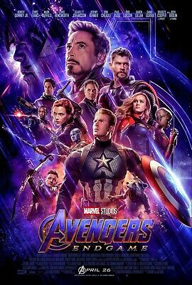 AVENGERS Original DS 27x40 Final Movie Poster 2-Pack ENDGAME INFINITY WAR THANOS