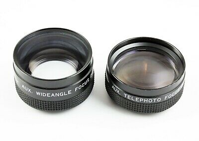 194901 Matched Kalimar Wide and Telephoto Auxiliary Lenses 46mm Thread
