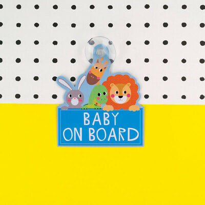 Blue Baby On Board Sign - High Visibility Laminated Car Sign
