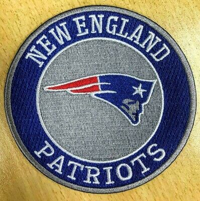 "LARGE  NEW ENGLAND PATRIOTS  iron on embroidered PATCH NFL FOOTBALL 4"" tom brady"