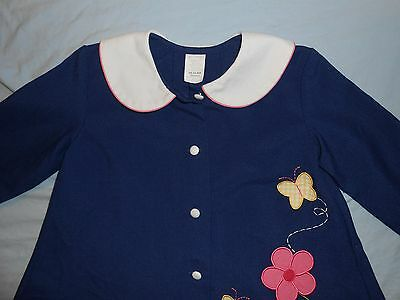 Girls long dressy jacket coat size 4, blue, flowers, butterflies,  #586
