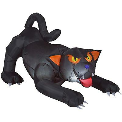 5.5 ft. Inflatable Animated Black Cat with Turning Head For Halloween Decoration