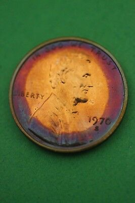 Florida Toned 1970 S Proof Lincoln Memorial Cent Flat Rate Shipping TOM47