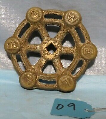 Vintage Industrial Machine Age STEEL Water Valve Handle Steampunk Art used