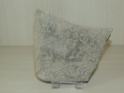 Antique Stone Fragment With Scriptures,Graffiti Symbols,Drawings