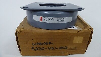Warner 5230-451-002 Magnetic Clutch EP-500 90V 4000rpm 44 watts 5230451002