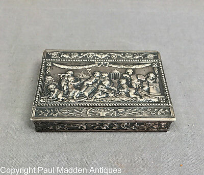 Antique German Silver Repousse Box