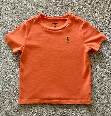 NWOT Baby Boys' Polo Ralph Lauren Cotton Jersey Crewneck T-Shirt Orange Size 24M