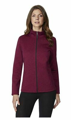 *32 Degrees HEAT Women's Plush Lined Tech Fleece Jacket HT. Sangria Medium NWT