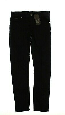 1865ed78 AX ARMANI EXCHANGE Men's 'J14' SKINNY FIT PATCHED DISTRESSED Black JEANS -  31