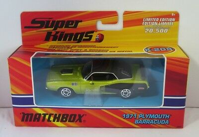 Matchbox 1:43 Super Kings - Plymouth Barracuda 1971 Brand new