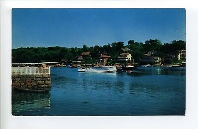 Gloucester, Annisquam Harbor MA Mass, boats, homes along water, 1950's?