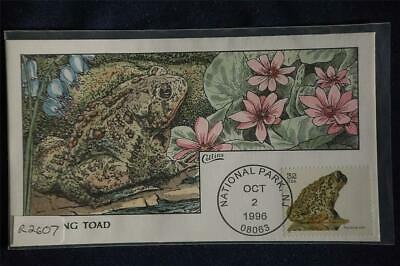 Endangered Species Wyoming Toad FDC Handpainted Collins#R2607 Sc#3105g