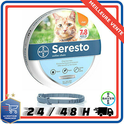 Bayer Seresto Collier antiparasitaire pour chats Anti-puce Anti-tique Antipuce