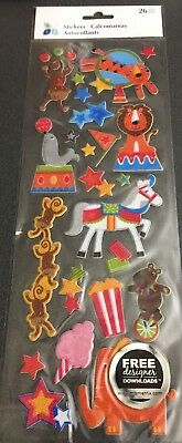 Momenta Glitter Circus Stickers 26 pc.
